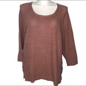 NEW!!!  Dressbarn dusty rose sweater 3X